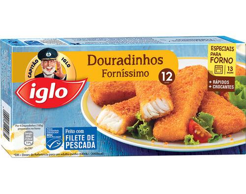 DOURADINHOS IGLO PESCADA FORNÍSSIMO 12 UN. 300G image number 0