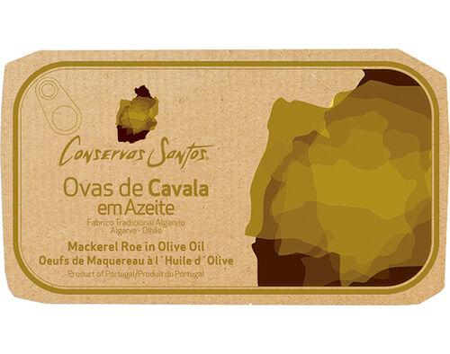 OVAS DE CAVALA CAMPOS SANTOS AZEITE 120 GR image number 0