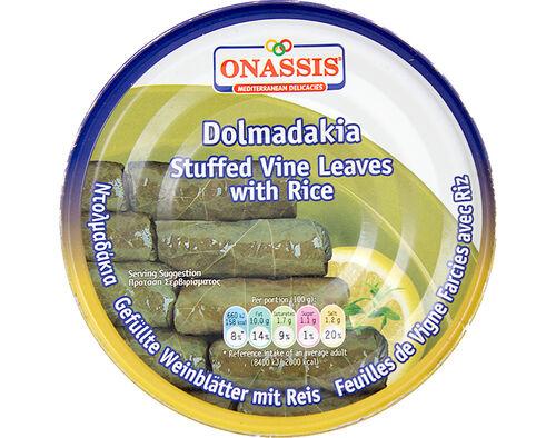 DOLMADAKIA COM ARROZ ONASSIS FOLHAS DE VIDEIRA 280 G image number 0