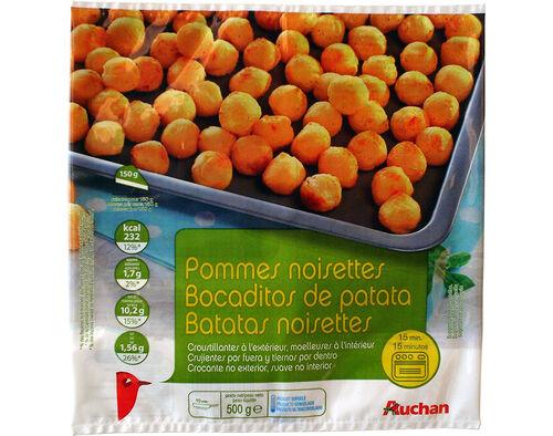 BATATAS AUCHAN PRÉ FRITAS NOISETTES 500G image number 0