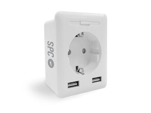 TOMADA SMART SPC C/ 2USB 2300W CLEVER MINI USB image number 1
