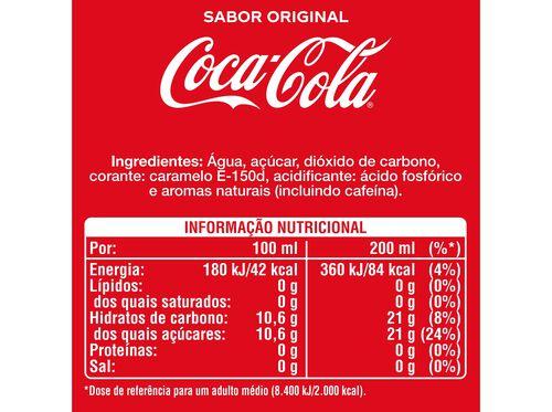 REFRIGERANTE COCA-COLA COM GÁS SABOR ORIGINAL VIDRO 4X0.20L image number 1