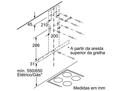 CHAMINÉ BOSCH DWB67IM50 B 720M3/H 60CM INOX