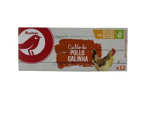 CALDO AUCHAN GALINHA 12 CUBOS 120G image number 0