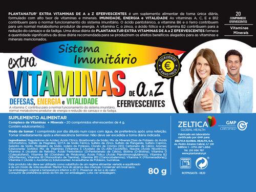 SUPLEMENTO PLANTANATUR VITAMINAS A-Z EFERVESCENTE 20 COMP image number 1