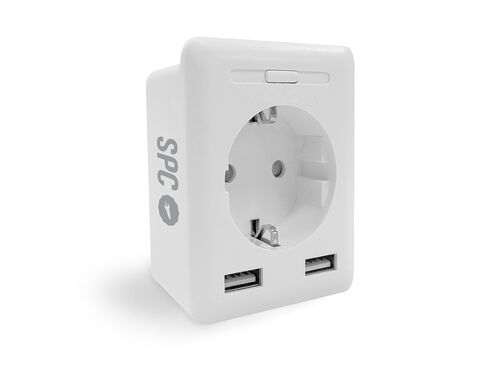 TOMADA SMART SPC C/ 2USB 2300W CLEVER MINI USB image number 0