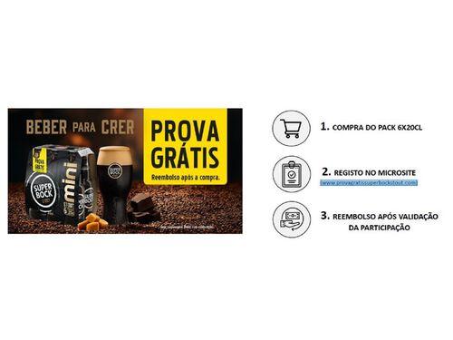 CERVEJA PRETA SUPER BOCK STOUT MINI 6X0.20 L image number 4
