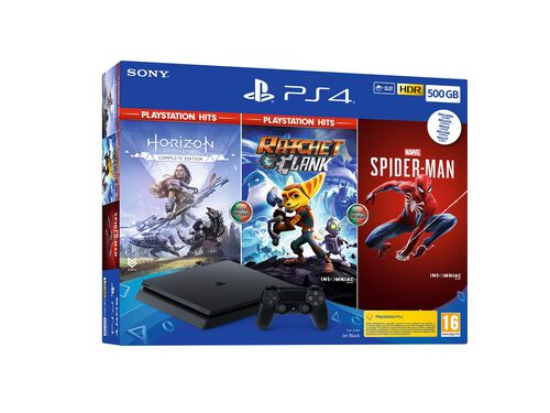 CONSOLA 500GB PS4 3 JOGOS image number 1