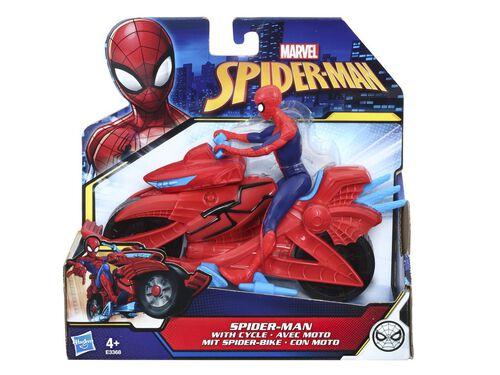 FIGURA COM MOTO SPIDERMAN image number 0