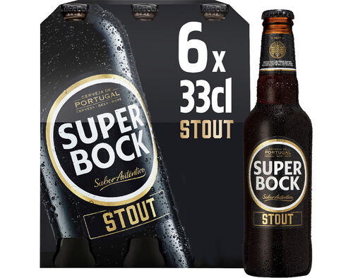 CERVEJA SUPER BOCK STOUT COM ÁLCOOL TP 6X0.33L image number 0