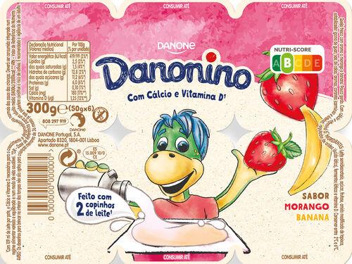 IOGURTE DANONINO PETIT MORANGO/BANANA 6X50G image number 0