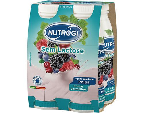IOGURTE S/ LACTOSE NUTRÉGI LÍQ. FRUTOS VERMELHOS 4X170G image number 0