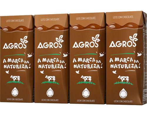 LEITE AGROS COM CHOCOLATE 4X200ML image number 0