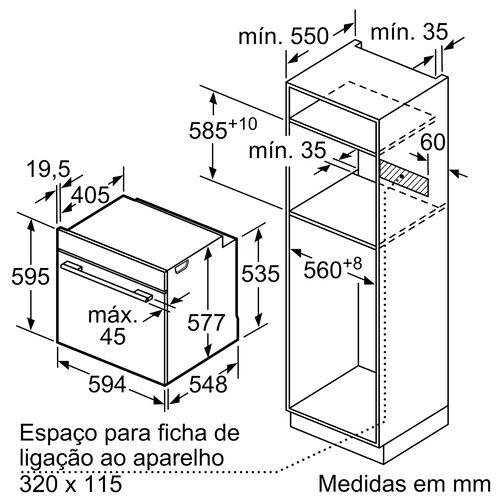FORNO MULTIFUNÇÕES BOSCH HBG675BW1 PIROLÍTICO A+ 71L 3600W image number 3