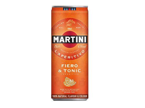 VERMUTE MARTINI FIERO C/TÓNICA LATA 0.25 L image number 0