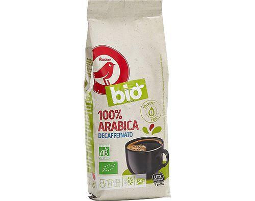CAFÉ MOÍDO AUCHAN BIO ARÁBICA 100% DESCAF INT. 250 G image number 0