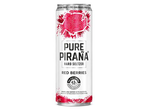 HARD SELTZER PURE PIRAÑA RED BERRIES LATA 0.33 L image number 1