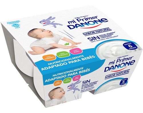 IOGURTE INFANTIL DANONE NATURAL 4X100G image number 0