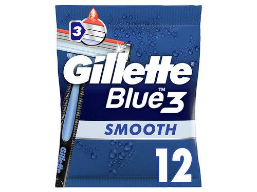 MÁQUINA DESCARTÁVEL GILLETTE BLUE3 SMOOTH 12UN image number 0