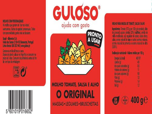 MOLHO GULOSO ORIGINAL 400 G image number 1