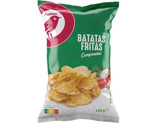 BATATAS AUCHAN FRITAS GIRASSOL CAMPONESAS 150G image number 0