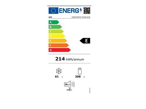 COMBINADO DE ENCASTRE AEG SCE819E5TS INOX NO FROST 267L E image number 2