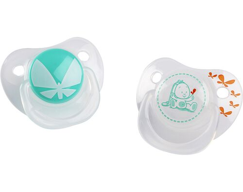 PACK 2 CHUCHAS AUCHAN BABY SILICONE 0/6M FISIOL image number 0
