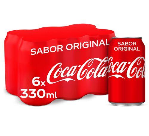 REFRIGERANTE COCA COLA COM GÁS SABOR ORIGINAL LATA 6X0.33L image number 0