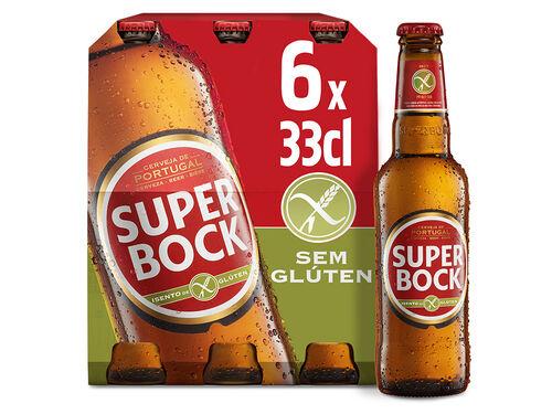 CERVEJA SUPER BOCK SEM GLÚTEN 6X0.33 L image number 0