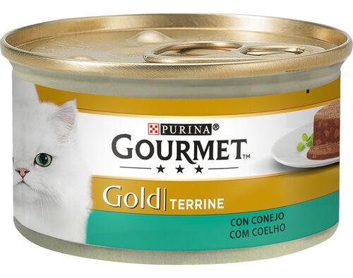 COMIDA HÚMIDA GATO GOURMET GOLD COELHO 85GR image number 0