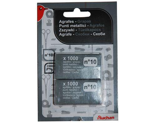 AGRAFOS N.10 AUCHAN CX 1000UN 2UN image number 0