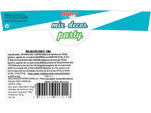 DECORAÇÃO NUTRY P/ PASTELARIA MIX 150 G image number 1