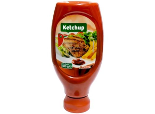 KETCHUP TOP DOWN PET AUCHAN 450 G image number 0