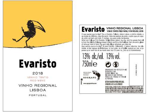 VINHO EVARISTO TINTO LISBOA 0.75L image number 1