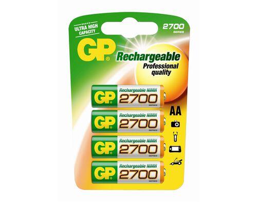 PILHAS RECARREGÁVEIS GP 4X2600MAH 270AAHC-CB4 image number 0