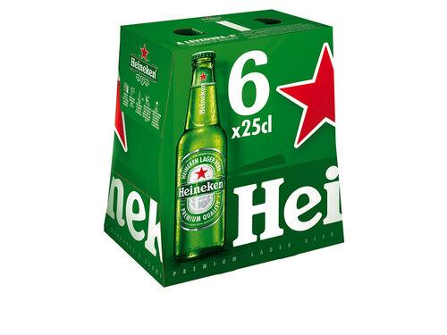 CERVEJA HEINEKEN C/ALCOOL T/P 6X0.25L image number 0