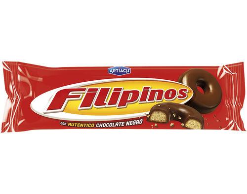 BOLACHA ARTIACH COBERTA FILIPINOS CHOCOLATE PRETO 135G image number 0