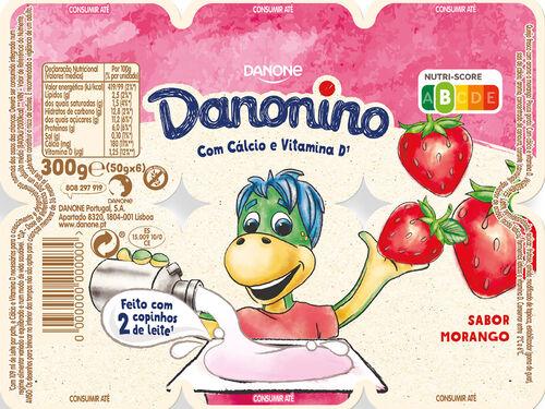 IOGURTE DANONINO PETIT MORANGO 6X50 G image number 0
