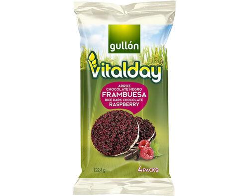 TORTITAS GULLON VITALDAY ARROZ CHOCOLATE FRAMBOESA 122.4G image number 0