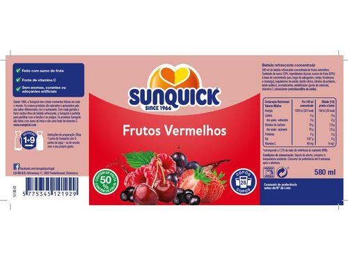 CONCENTRADO SUNQUICK FRUTOS VERMELHOS 0.58 L image number 1