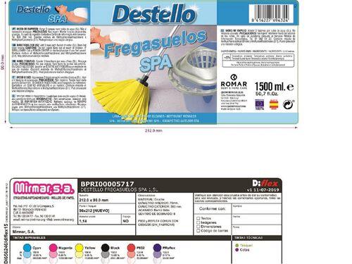 LAVA CHÃO DESTELLO SPA SD 1.5 L image number 1