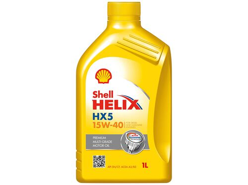 LUBRIFICANTE HELIX SHELL HX5 15W40 SN A3/B3 1 LT image number 0