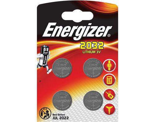 PILHAS LITHIUM ENERGIZER CR2032 BL4 image number 0
