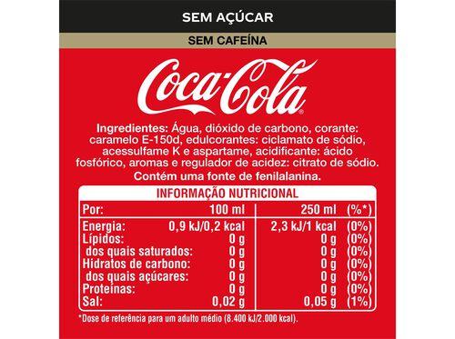 REFRIGERANTE COM GÁS COCA-COLA ZERO SEM CAFEÍNA 1 L image number 1