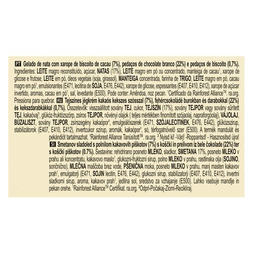 GELADO PINT MAGNUM WHITE CHOCOLATE/COOKIES 440ML image number 1