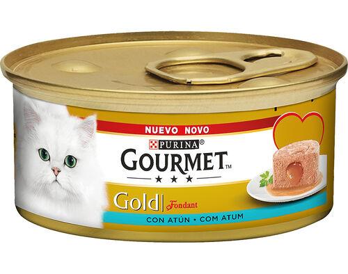 COMIDA HÚM GATO GOURMET GOLD FONDANT ATUM 85GR image number 0