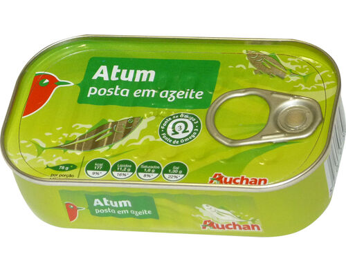 ATUM AUCHAN EM AZEITE POSTA 120G image number 0