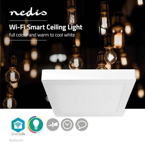 PLAFON LED SMART NEDIS 30CM 1400LM 18W RGB WIFILAC30WT