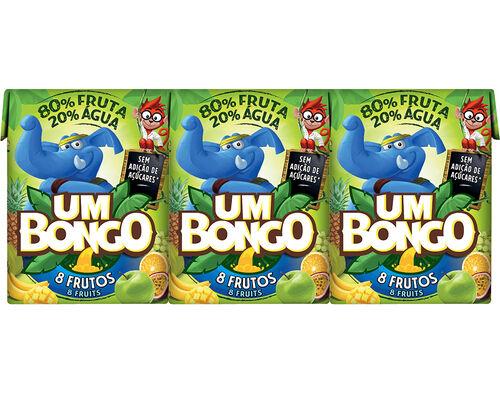 NÉCTAR UM BONGO 8 FRUTOS 3X0.20L image number 0