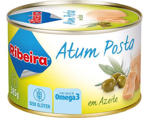 ATUM RIBEIRA EM POSTA EM AZEITE 385G image number 0